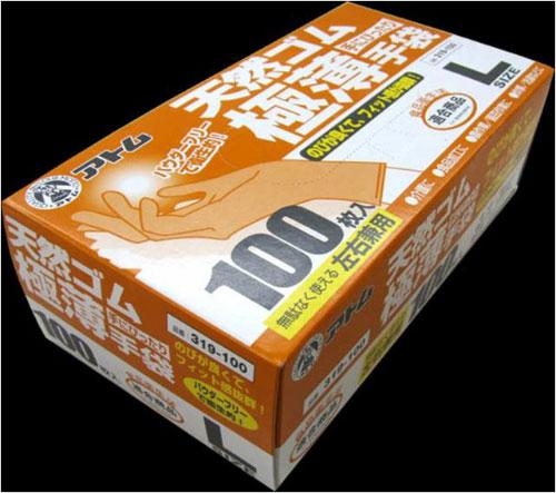 319 天然ゴム極薄手袋